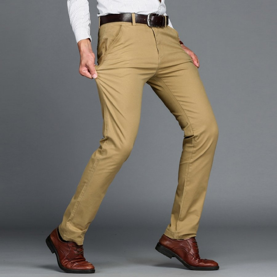 Casual business stretch pants image