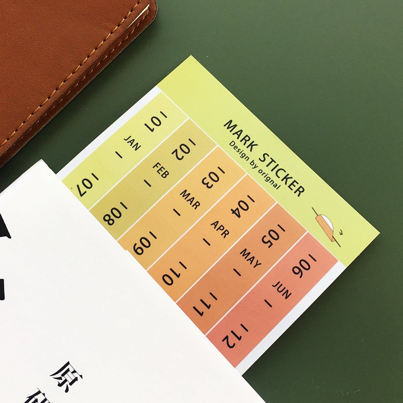 Colored date stickers image
