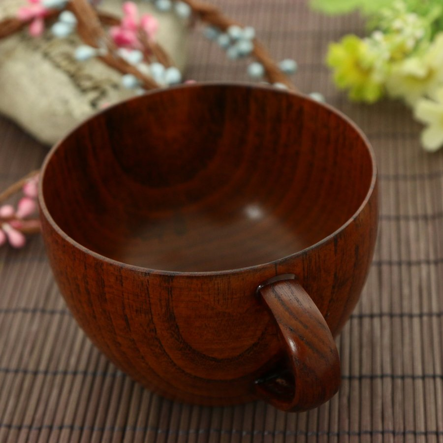 Wooden coffee tea cup  image