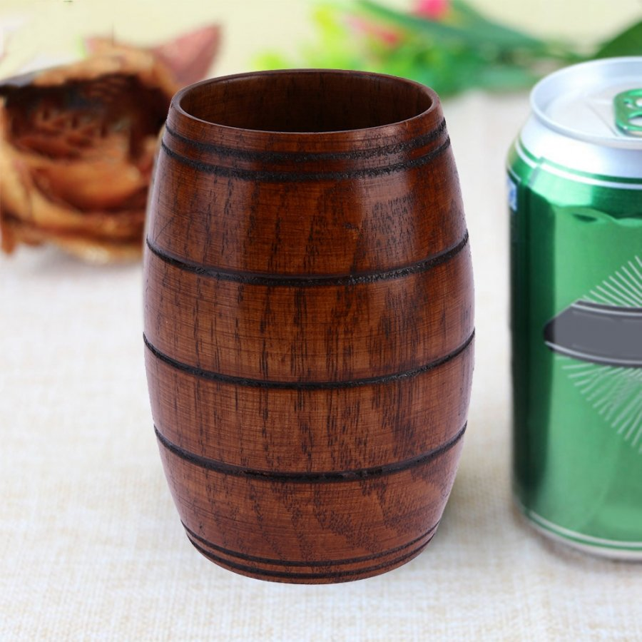 Wooden beer mug image