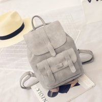 Grey womens school backpack