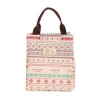 Pattern canvas lunch bag