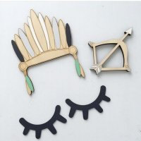 Wooen eyelash wall decoration