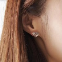 Diamond shape studs