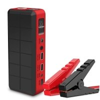 Emergency portable car battery jump starter kit