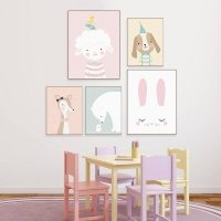 Cartoon animal canvas prints