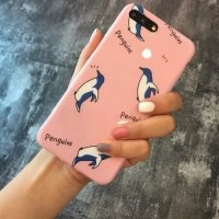 Cartoon penguins iPhone case
