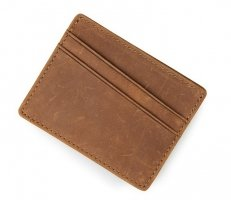 Vintage minimalist leather wallet