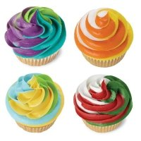 3 color icing swirls piping bag