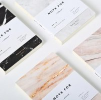 Marble print notebook