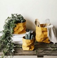 Washable paper planter bags
