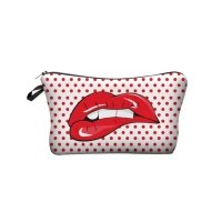 Makeup dot lips pouches